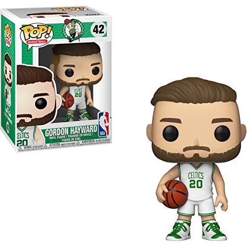 Funko Gordon Hayward [Celtics]: NBA x POP! Sports Vinyl Figure & 1 POP! Compatible PET Plastic Graphical Protector Bundle [#042 / 34450 - B]