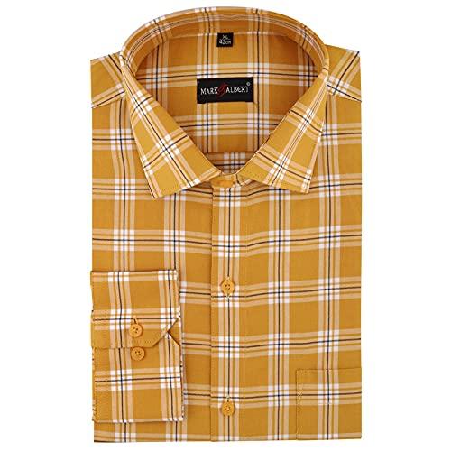 Mark & Albert Men's Checkered Cotton Formal Shirt