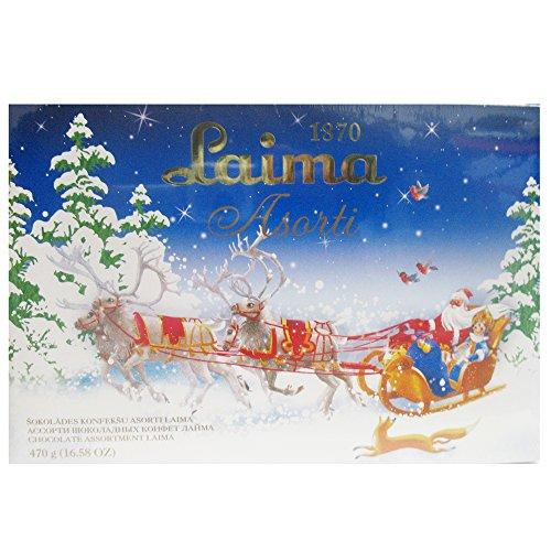 Lettische Pralinen - Auslese LAIMA (Schokoladen Pralinen / 470 g) WEIHNACHTEN - EDITION