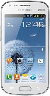 """Samsung Galaxy S DUOS S7562 Unlocked GSM Phone with Dual SIM, Android 4.0 OS, 4"""" Touchscreen, 5MP Camera + Seconday VGA Camera, Video, GPS, Wi-Fi, Bluetooth, Stereo FM Radio, MP3/MP4 Player and microSD Slot - White"""