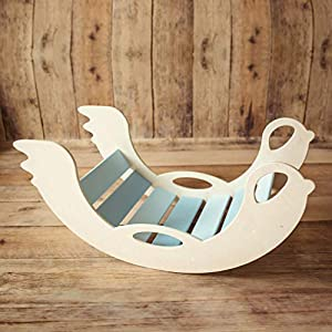 Bogenwippe und Kletterbogen aus Holz – handgefertigt, Babys und Kinder ab 12 Monaten, Kletterspielzeug, Pikler-Art, für…