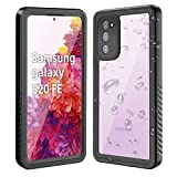 WIFORT Case Fit for Samsung S20 FE, IP68 Waterproof Case Full Body Sealed Built in Screen Protector, Rugged Cell Phone Case Snowproof Shockproof Dusproof for Galaxy S20 FE (6.5''), Black + Clear