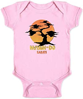 Karate Kid Miyagi-Do Dojo Bonsai Sunset Costume Infant Baby Boy Girl Bodysuit