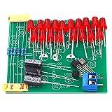 OKAYOU Ledハート型点滅ライトLedハート型点滅ライトサイクル点滅ライト電子生産キット18赤Ledハート型ランプDiy