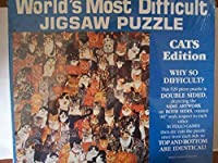"""World's Most Difficult Jigsaw Puzzle"""" Cats Edition"""" Double Sided - 529. [並行輸入品]"""