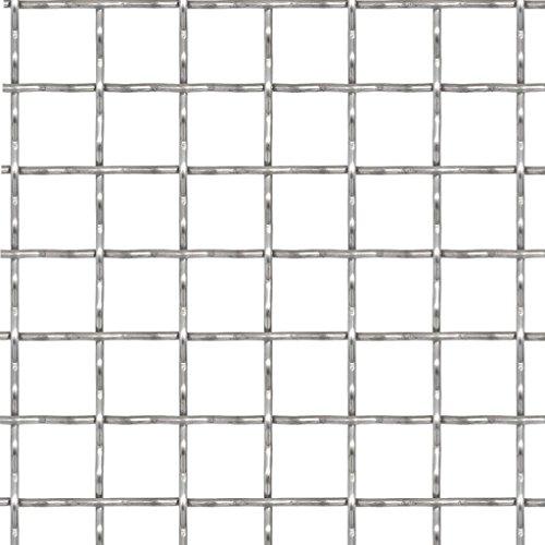 mewmewcat Drahtgitter 50 x 50 cm Wellengitter Edelstahl Gittermatte Gitter Maschenweite 31 x 31 mm