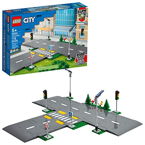 LEGO City Road Plates 60304 Building Kit; Cool Building Toy for Kids, New 2021 (112 Pieces)