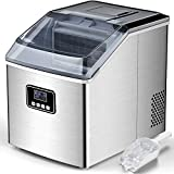 FREE VILLAGE Ice Maker Machine Countertop, Auto Self-Cleaning, 40Lbs/24H, 24pcs in 13 Mins,Portable Compact Ice Maker...
