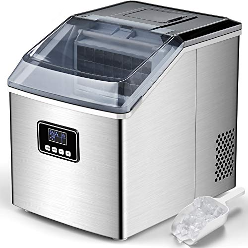 FREE VILLAGE Ice Maker Machine Countertop, Auto Self-Cleaning, 40Lbs/24H,...