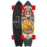 Arbor Sizzler 31' Complete Skateboard (Artist GT - Fireball Scorch 84a...