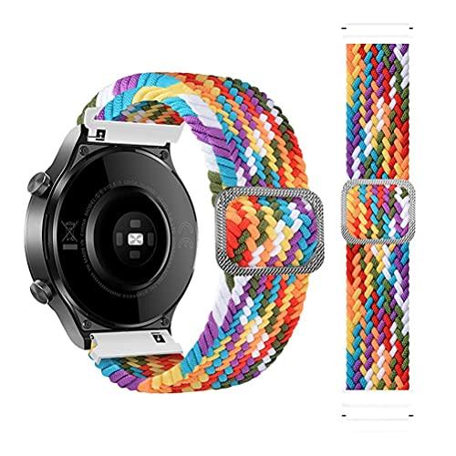 Correa de 22 mm para Samsung Galaxy Watch 3 45 mm/Galaxy Watch 46 mm/Gear S3/para Amazfit GTR 47 mm, tejido de silicona de nailon ajustable, correa deportiva para Huawei Watch GT/GT2/GT2 Pro