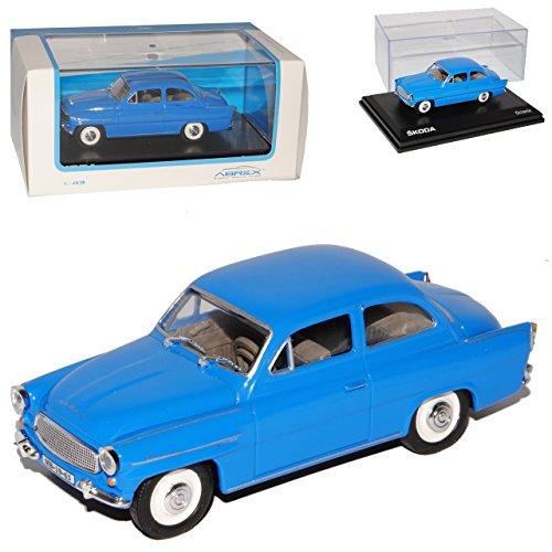Abrex Skoda Octavia 1964 Coupe Hell Blau 403 Oldtimer 1/43 Modellauto Modell Auto