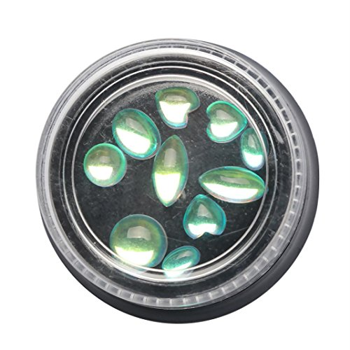 Ouneed® Powder Nail,Nagel Rhinestone Kristall 3D Nail Art Dekoration Glitter glänzend Multisize Bling (B)