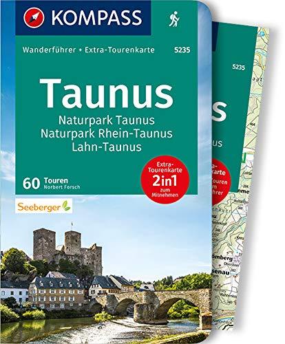 KOMPASS Wanderführer Taunus, Naturpark Taunus, Naturpark Rhein-Taunus, Lahn-Taunus: Wanderführer mit Extra-Tourenkarte 1:65.000, 60 Touren, GPX-Daten zum Download: 5235