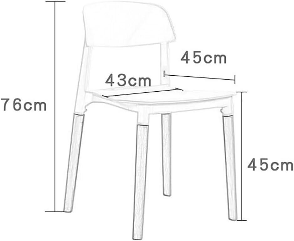 Min Chaises - Chaise Minimaliste Moderne et créative, Chaise de Salon en Bois Massif et Chaise en PP (Taille 43X 45X76cm) Chaise de Salle à Manger (Color : B) D