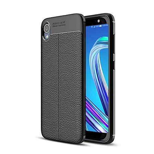 Asus ZenFone Live (L1) ZA550KL 5.5' Custodia,HERCN Ultra Sottile Anti-graffio Antiscivolo Resistente Custodia Silicone Case Molle di TPU Case Cover per Asus ZenFone Live (L1) ZA550KL Smartphone (Nero)