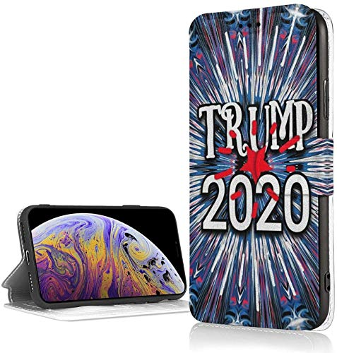 Bernice Winifred Trump 2020 Blue Case para iPhone XR Luxury PU Leather Wallet Case Flip Folio Cover con Ranuras para Tarjetas Correa de muñeca