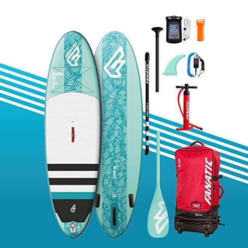 Fanatic Kit de Stand up Paddle Gonflable 9'8 Diamond Air avec Paddle – Pompe à Sup – Aileron...