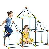 Kids Fort Building Kit Piezas-Creative Fort Toy para Niños Y Niñas De 3,4, 5,6,7 Años De Edad-Juguetes De Aprendizaje DIY Construcción De Castillos Túneles Tienda De Campaña Rocket Tower Interior