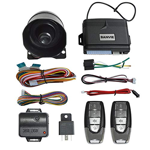 BANVIE Car Security Alarm System with Remote Keyless Entry & Trunk Release