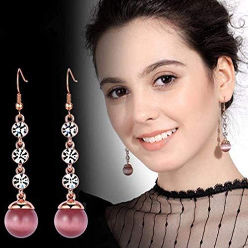 WMYATING Los pendientes son de moda y hermosos, los pendientes de gota de cristal artificial sh Erin Elegant para mujer.