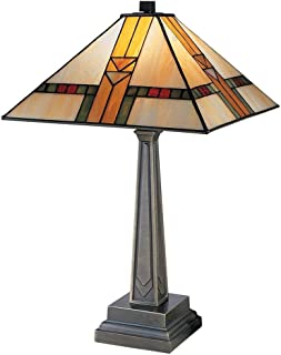 Dale Tiffany 8655/551 Edmund Mission Style Table Lamp, 13.0