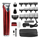 Wahl Clipper Stainless Steel Lithium Ion Plus Beard Trimmer Kit Red No.9864R Cordless