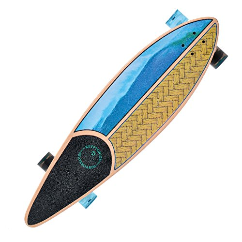 Kryptonics Longboard Through – Monopatín con rodamientos ABEC 5, Skateboarding, Longboard 37 Zoll Drop-Through Skateboarding Skaten Outdoor Board-California (Weaved), Weaved