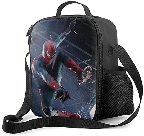 AMCYT Spiderman lunch box Sac Isotherme Lunch Bag, Sac-Glacière Cooler Bag Sac de Repas pour Déjeuner/Travail/Ecole/Plage/Pique-Nique (Spiderman10,ONE SIZE)