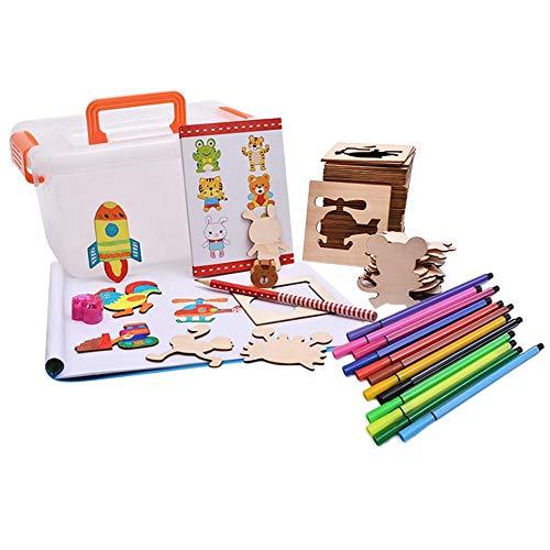 G-wukeer Malset , Doodle Paint Innovative Templates Learning Draw Set Tools Lernspielzeug für Jugendliche Kunstbedarf für Kinder