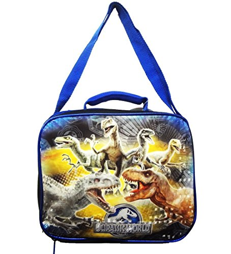 Jurassic World Lunch Box Insulated Lunch Kit Bag T Rex & Raptors Vs Indominus