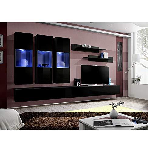 ASM Ensemble TV avec LED - 6 éléments - Noir et Blanc