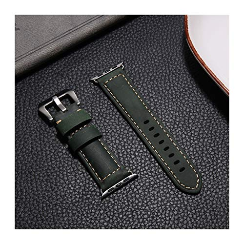 Correa de Cuero Genuina Aplicar a Apple Watch Band 44mm 40mm para iWatch 38 mm 42mm Reloj de Reloj Pulseira Aplicar a Apple Watch Series 5 4 3 44 mm