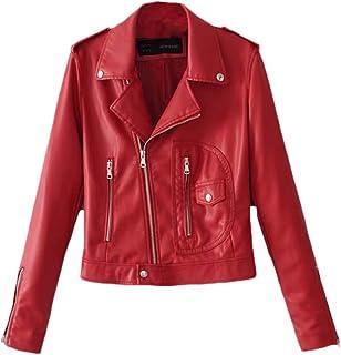online store 8baef 056d4 Amazon.it: Ecopelle - Rosso / Giacche e cappotti / Donna ...