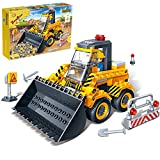Bulldozer Toys for Boys, Building Blocks for Kids Ages 4-8 Pull Back Cars Construction Site Toys Gift for Toddlers , New 2020 (103 Pieces)