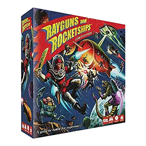 IDW Games IDW01080 Rayguns and Rocketships Board Game, Blue