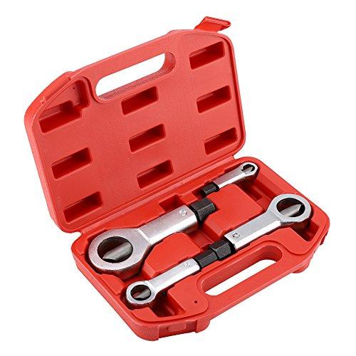 45# Steel Heavy Duty Nut Splitter Set, Broken Damaged Screw Nut Removal Splitting Tools 4 Sizes (1 Set of Nut Splitters)