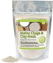 Maine Chaga & Clay Mask, Deep Pore Facial With Antioxidant Chaga Mushroom