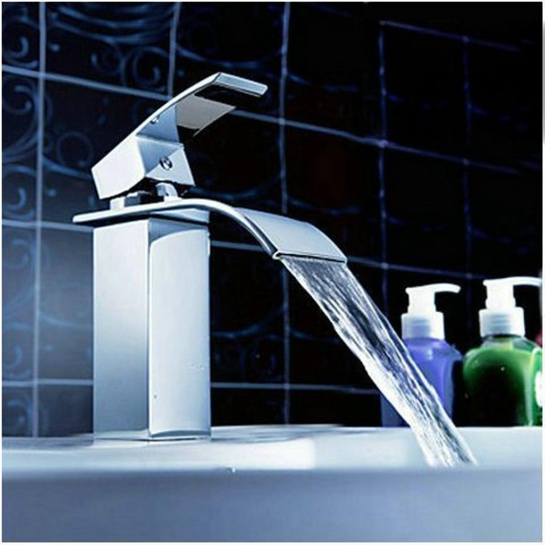 Tourmeler Bathroom Faucet Chrome Finish Deck Mounted Basin Sink Faucet Mixer Tap Waterfall Faucet Torneira Water Tap Lt-503