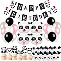 KREATWOW Panda Party Decorations Supplies for Girls Birthday Baby Shower