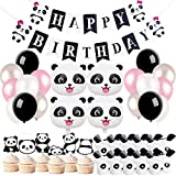 Panda Party Decorations Supplies Birthday Banner Favor Bags for Panda Bear Birthday Baby Shower