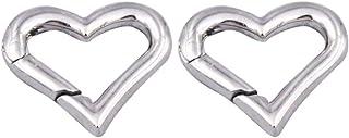 LIOOBO 10pcs Moschettoni rampicanti in Alluminio con moschettone Portachiavi a Forma di Cuore per Escursioni in Campeggio allAria Aperta