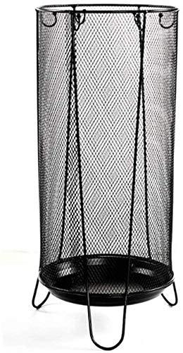 Paragüero/Soporte Hierro Forjado Parasol Almacenamiento / / montada en el Piso de Malla Paraguas Cubo/Inicio Corredor paragüero/Negro 59 x 19,7cm