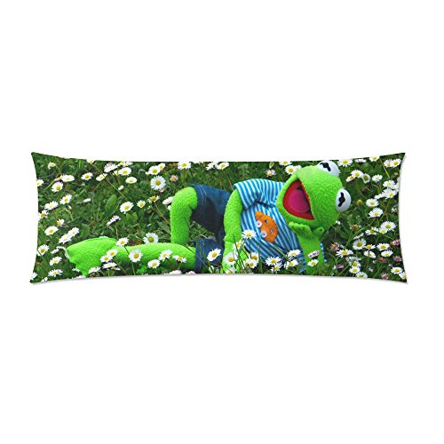 INTERESTPRINT Body Pillow Covers Pillowcase Kermit Throw Pillows 21'x60' Two Side Printing Pillow Cover