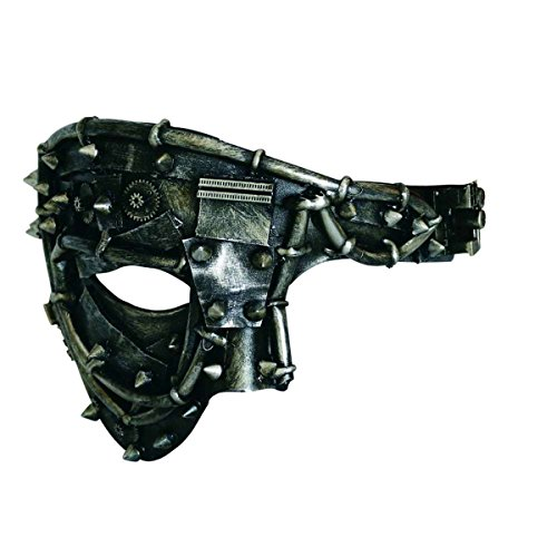 Dark Dreams Gothic Steampunk Maske Augenmaske Android Roboter Cyber Sci Fi Nieten Pain of Isolation