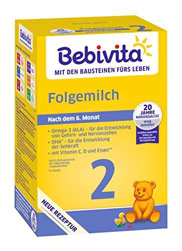 Bebivita 2 Folgemilch - ab dem 6. Monat, 4er Pack (4 x 500g)