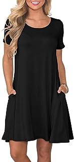 d74c5c5cd423 KORSIS Women s Summer Casual T Shirt Dresses Short Sleeve Swing Dress with  Pockets