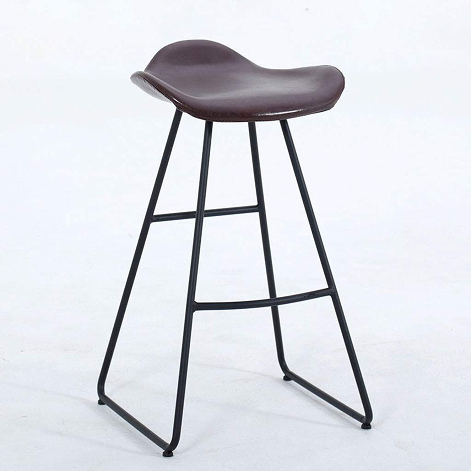 Garden Chair Iron Bar Stool Contemporary and Contracted, seat Height Choice of Colours Black,Brown,75cm