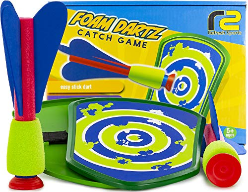 Outdoor Toys for Boys & Girls: Toss & Catch Game Set Paddle Foam Rocket Launcher. Best Gifts for 5 6...