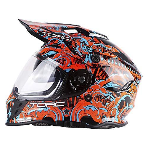 Cascos De Moto Casco Cara Completa Jet Moped Moto Adventure Touring Hard Hat Hat Flip Up Dual Visor Dot/ECE Certificación Casco De Motocicleta para Hombre Mujer,Pattern 3,XXXL(63cm)